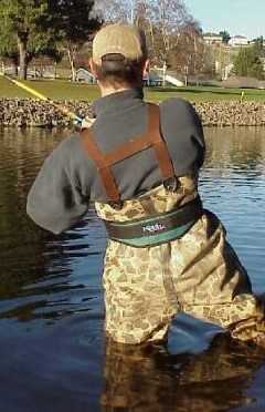 Wader with belt